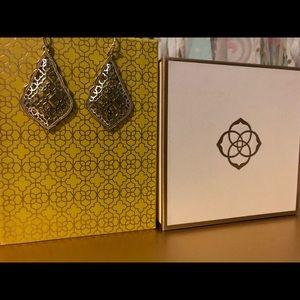 Kendra Scott Addie gold drop earrings filigree